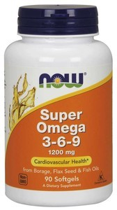 NOW Omega-3-6-9 90 капсул
