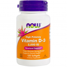 NOW Vitamin D-3 2000 ME 120 гелевых капсул