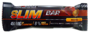 Slim Bar with L - Carnitine (50 гр) мюсли/белая глазурь Ironman
